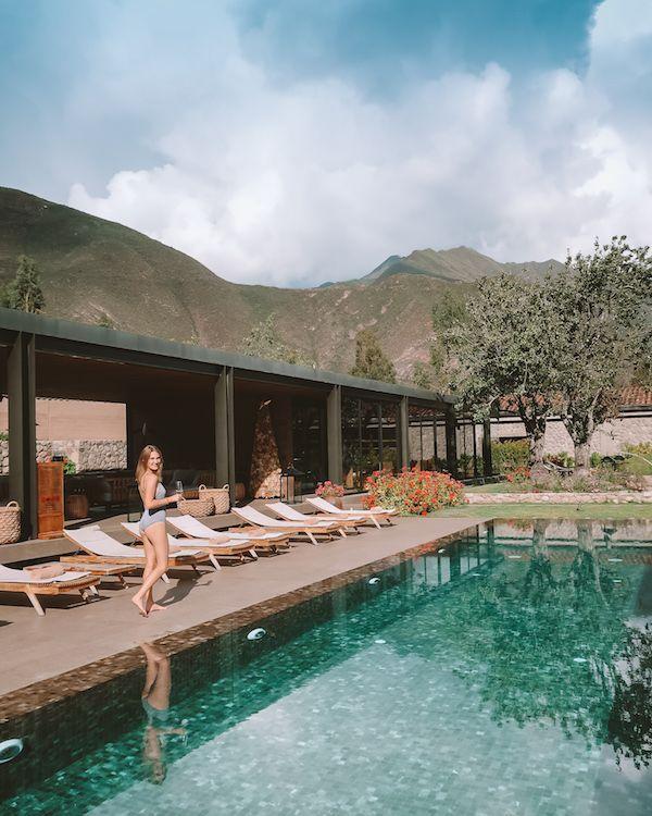 Pool at Sol y Luna, Peru